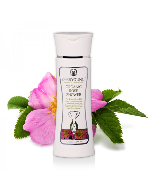 Organic Rose Shower Cream (dermatologically tested) - 150 ml