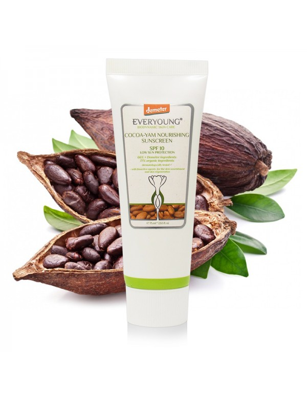 Cocoa-Yam Nourishing Sunscreen (66%+ Demeter) Low ...