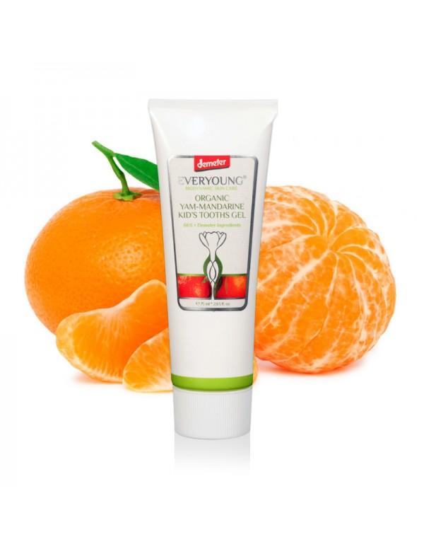 Yam-Mandarine Kids Gel Toothpaste (66%+ Demeter) - 75 ml