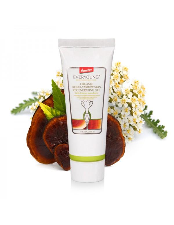 Organic Reishi-Yarrow Skin Regenerating Gel (66%+ Demeter) - 75 ml