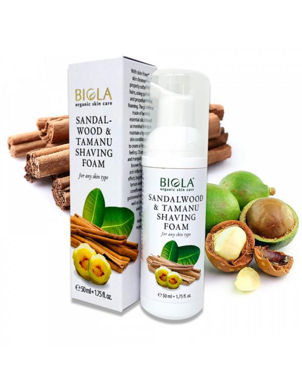 Organic Sandalwood & Tamanu Shaving Foam (98,92 % Organic) - 50 ml