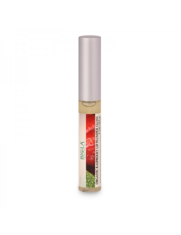 Organic Raspberry Lip Plumper Gloss - 7 ml