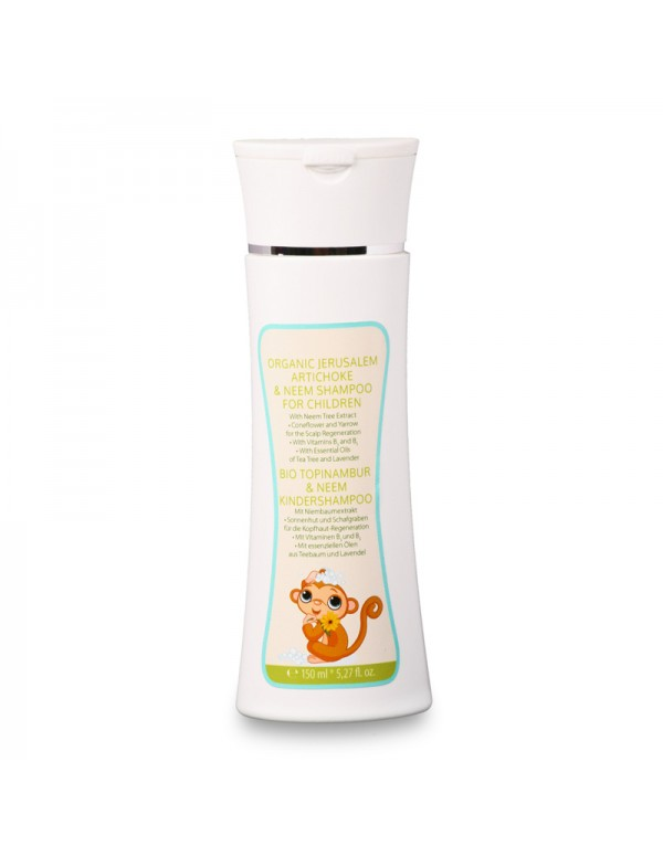 Organic Jerusalem Artichoke & Neem Shampoo for Children (dermatologically tested) - 150 ml