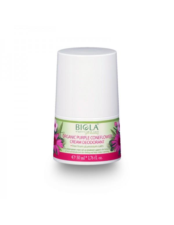 Organic Purple Coneflower Cream Deodorant (dermatologically tested) - 50 ml
