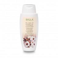 Tea Tree Oil Shower Gel & Shampoo (72% organic) (Dermatologically Tested) - 200 ml