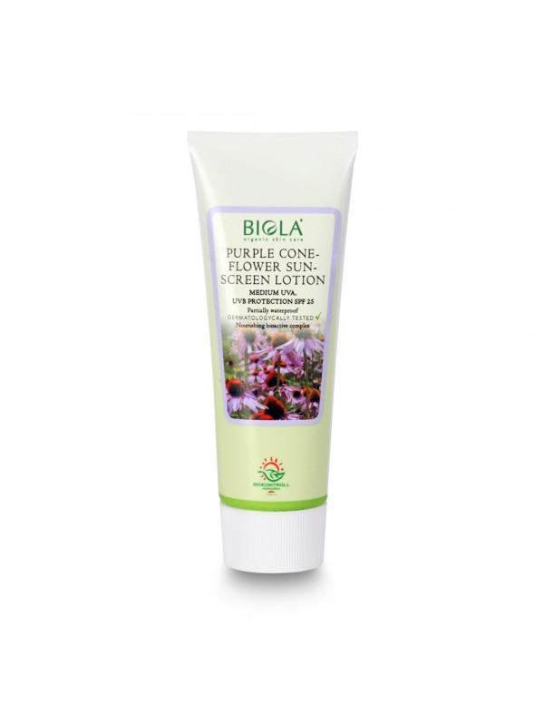 Purple Coneflower Sunscreen Lotion Medium SPF 25 (81% organic) (dermatologically tested) - 75 ml