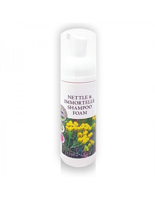 Nettle & Immortelle Shampoo Foam (98,88 % Organic) - 150 ml