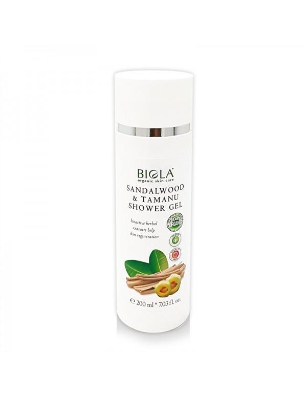 Organic Sandalwood & Tamanu Shower Gel (93,46 % Organic) - 200 ml