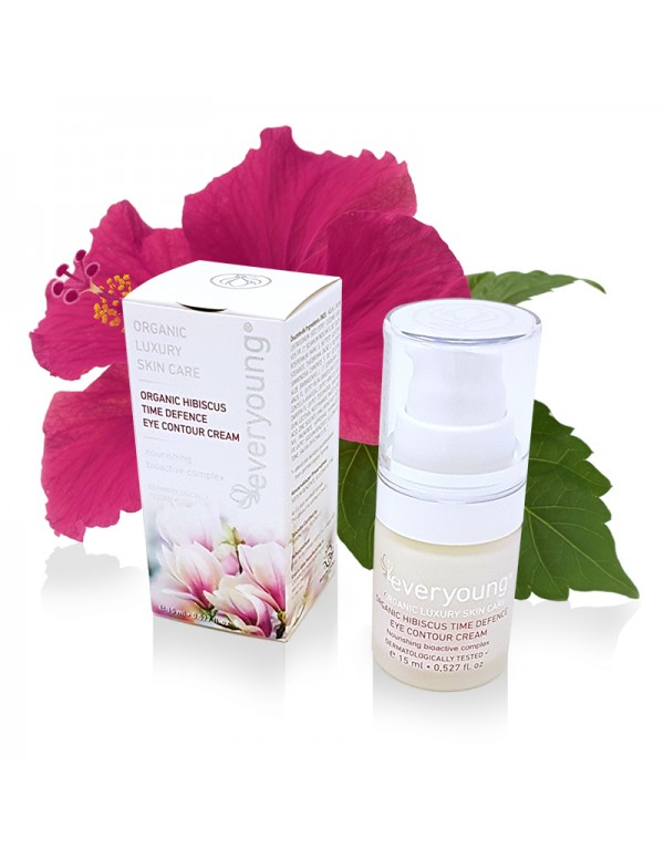 Organic Hibiscus Time Defence Eye Contour Cream (dermatologically tested) - 15 ml