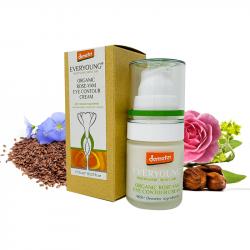 Organic Rose-Yam Eye Contour Cream (90%+ Demeter) - 15 ml