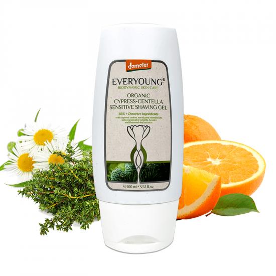 Organic Cypress-Centella Sensitive Shaving Gel (66%+ Demeter) - 100 ml