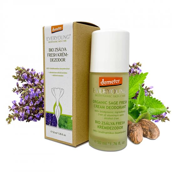 Organic Sage Fresh Cream Deodorant (66%+ Demeter) - 50 ml